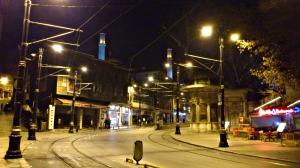 curva de calle noche