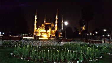 mezquita azul noche